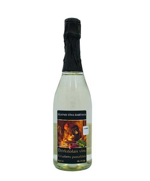 rabarberu dzirkstošais vīns